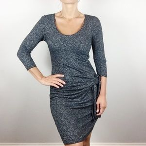 Gray Max Studio Side Tie Dress Small A26